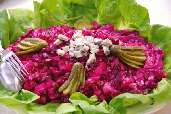 рецепты постных салатов но праздничных