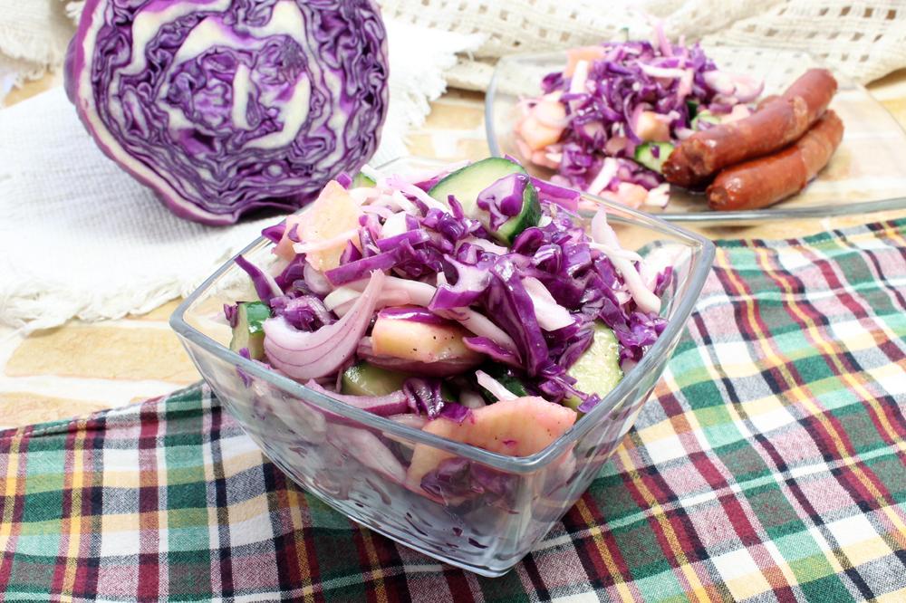 Рецепт приготовления краснокочанной капусты