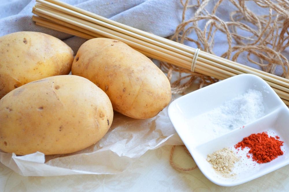 Чипсы из картошки в микроволновке  пошаговый рецепт с