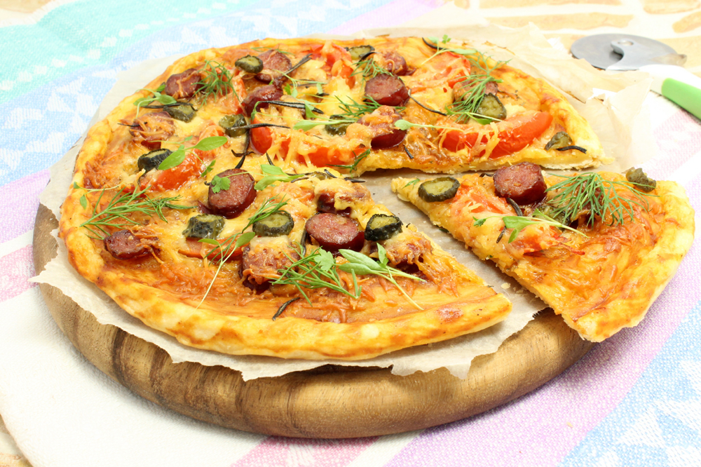 пицца на слоеном тесте пошаговый рецепт #10