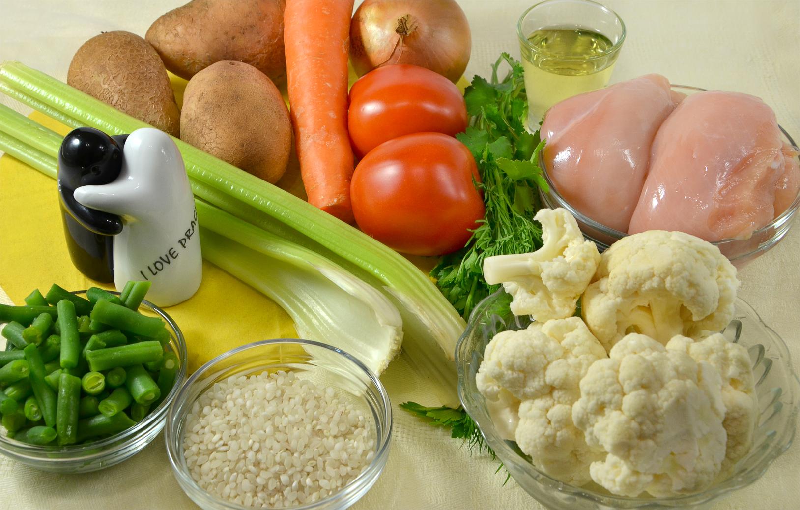 вкусный овощной суп на курином бульоне рецепт с фото