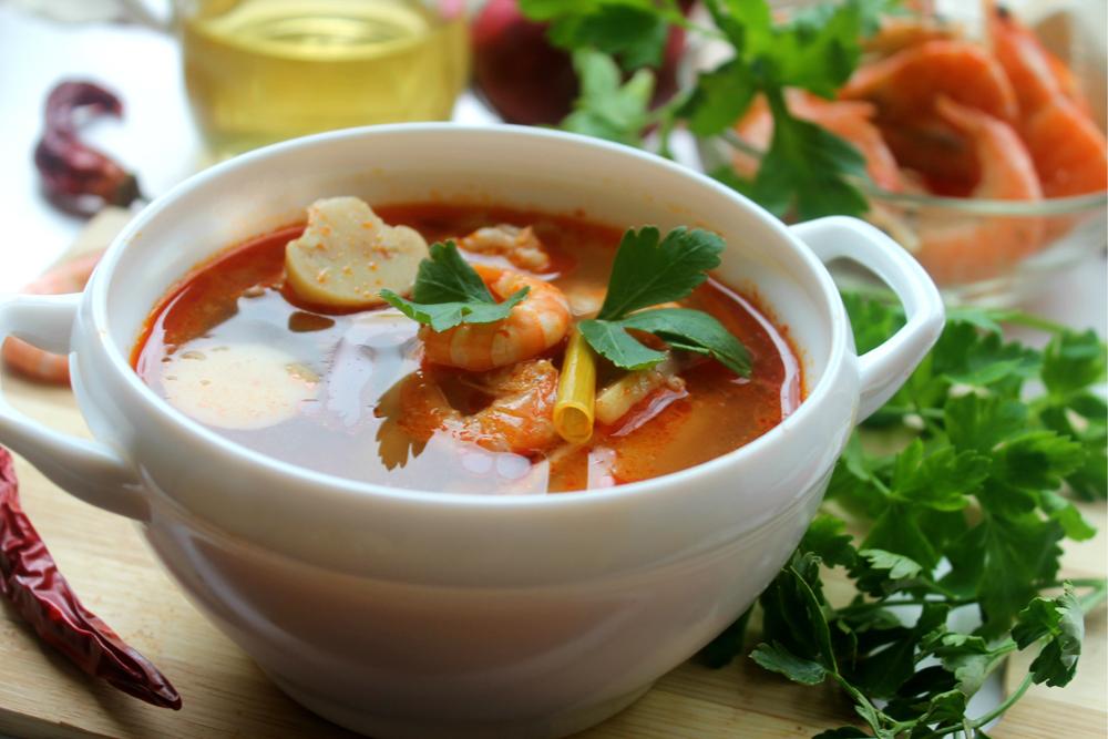 суп с тайский том ям рецепт в домашних условиях