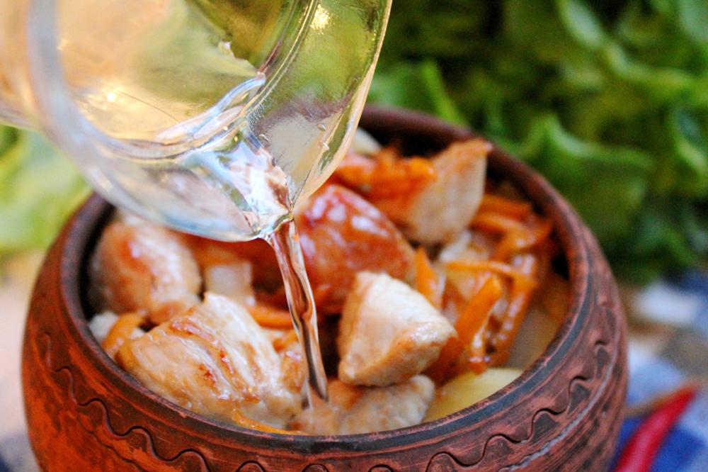 жаркое из курицы в горшочках в духовке с фото рецепты с фото