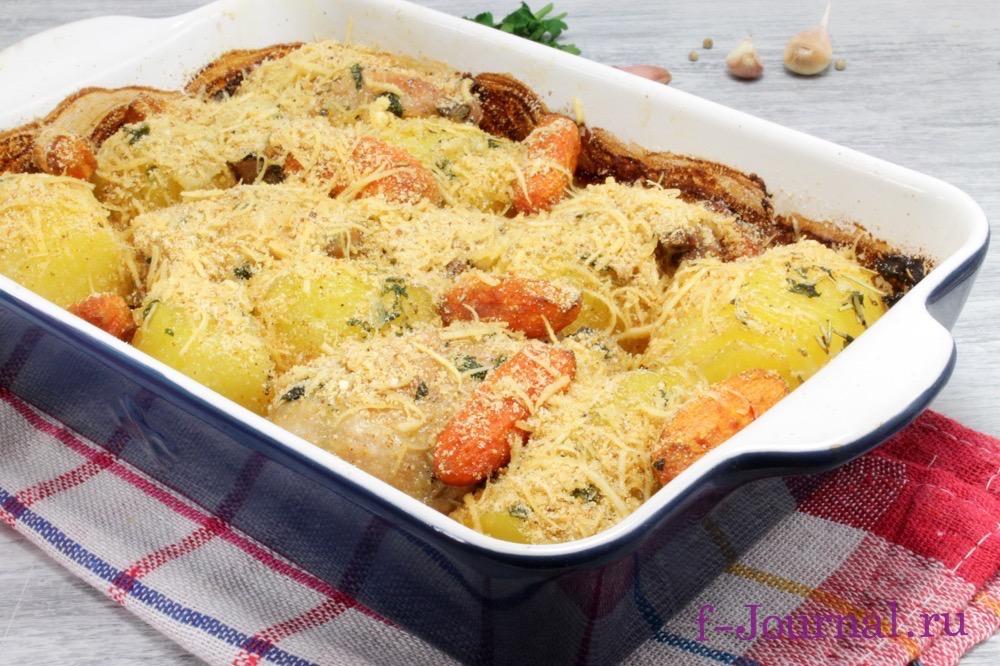 грудка с картошкой в духовке рецепт с фото