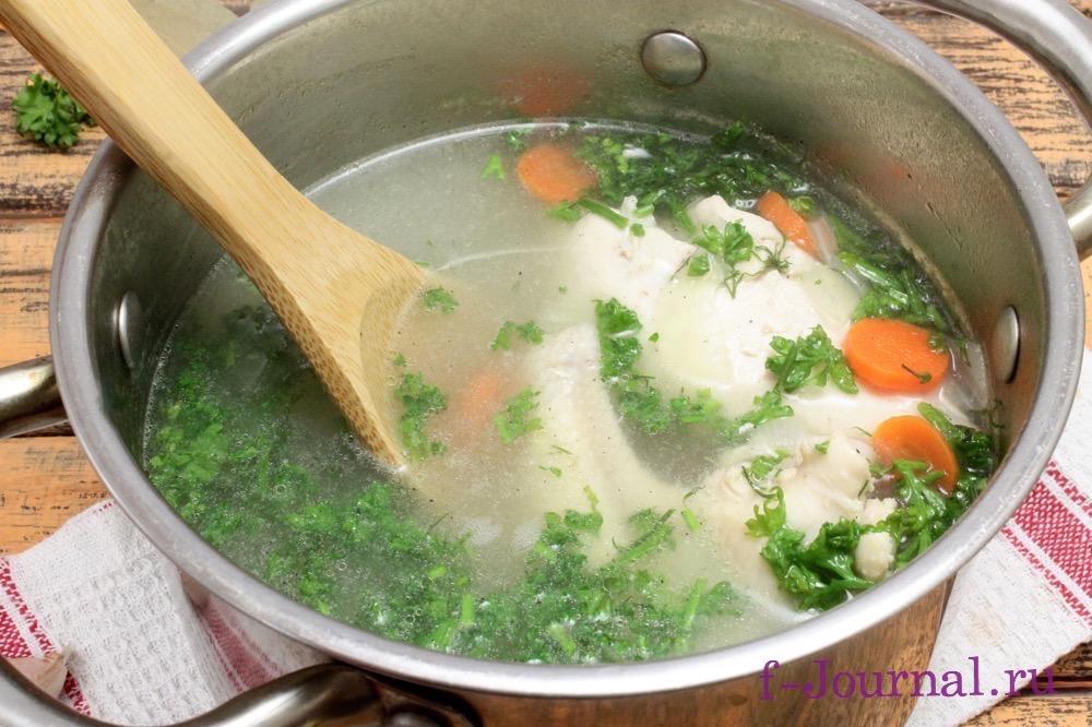 Куриный суп с зеленью рецепт