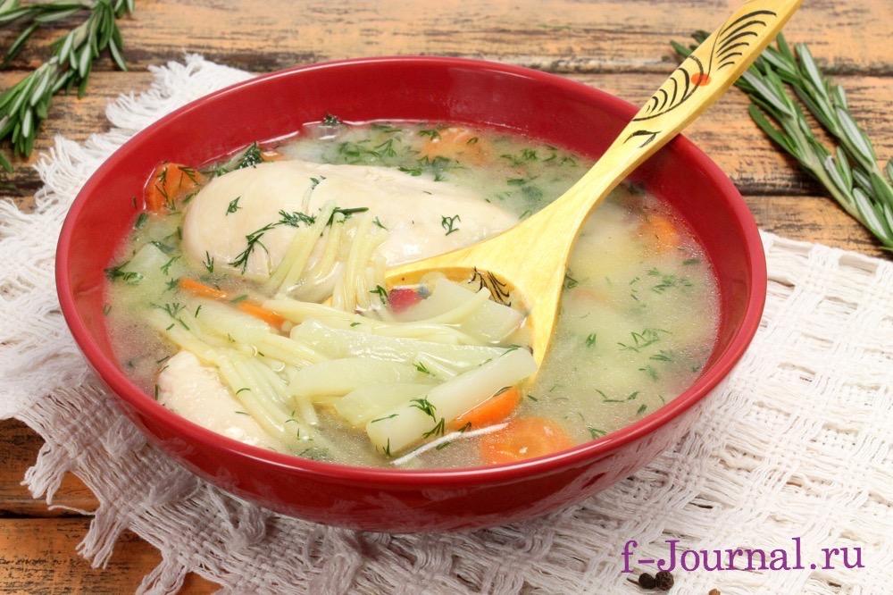 суп из куриного филе с вермишелью рецепт с фото