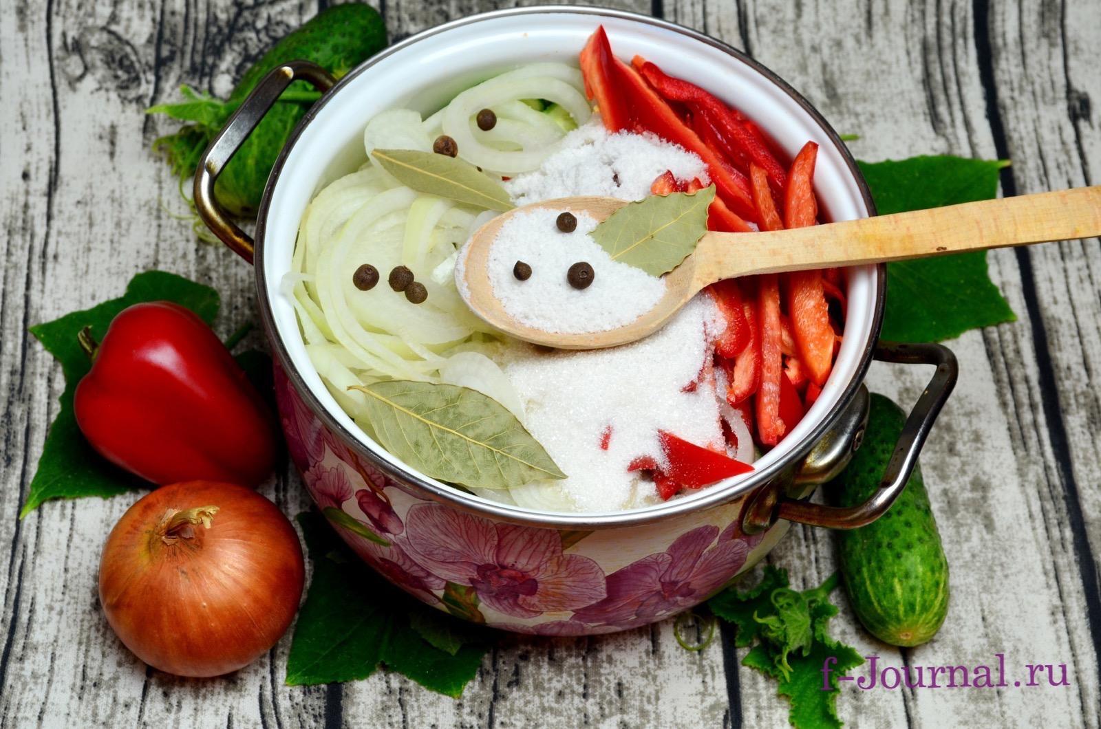 салаты из болгарского на зиму рецепт и фото