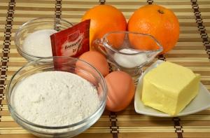 Апельсиновый кекс - ингредиенты
