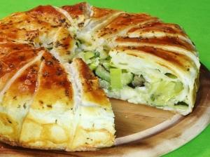 Овощной постный пирог