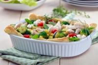 Салат из трески с редисом