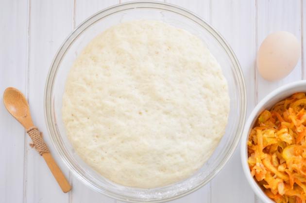 Закрытый пирог с капустой