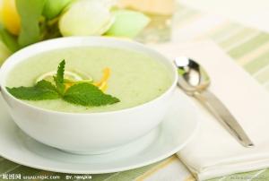 Дынный суп с киви