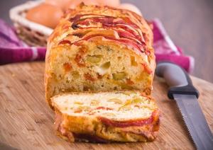 Сырный кекс со сладким перцем