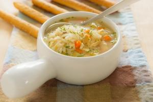 Рисовый суп с куриным филе
