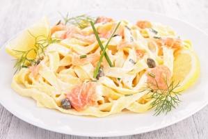 Рыбная паста в сливочном соусе