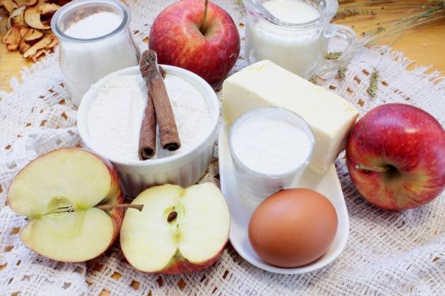 Тёртый яблочный пирог
