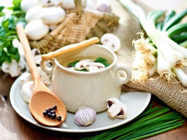 Овощной суп-пюре из шампиньонов