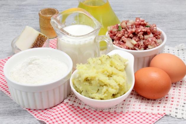 Картофельные блины с мясом