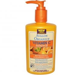 Освежающий и очищающий гель для кожи с витамином С