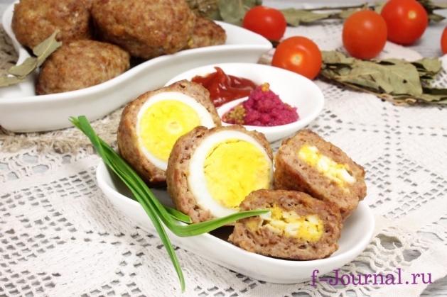 мясные зразы я яйцом