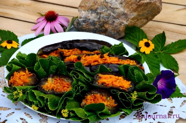 Баклажаны фаршированные морковью