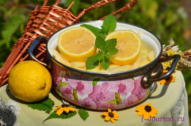 Дыня в карамелизированном сиропе с лимоном на зиму