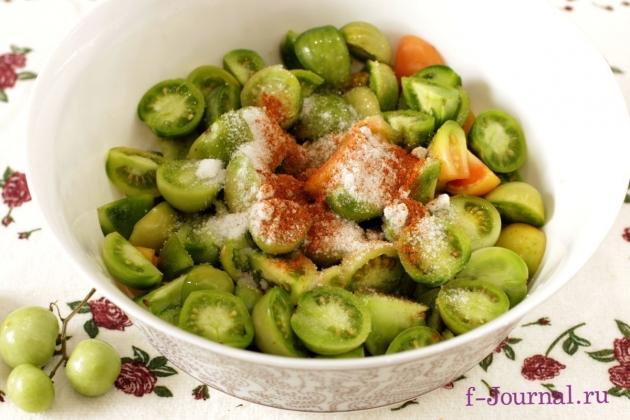 Закуска из зеленых помидоров