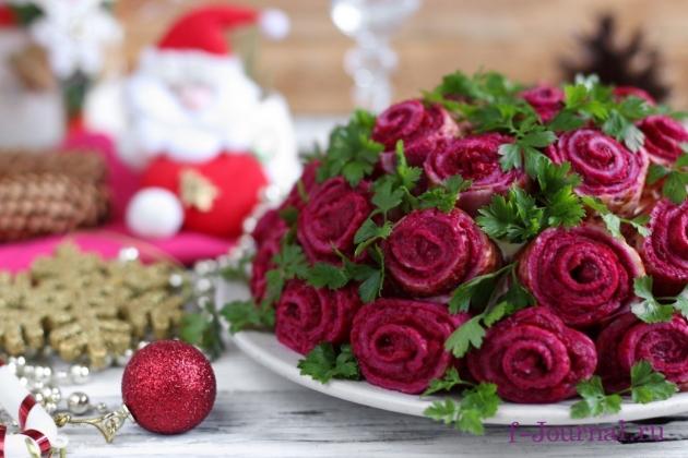 Салат «Букет роз»