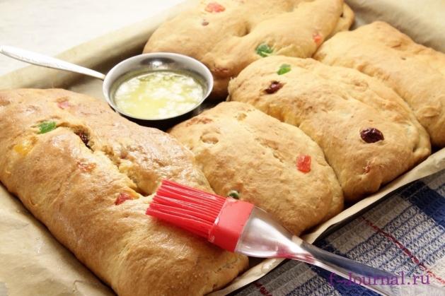 Рождественский хлеб с цукатами и орехами, пошаговый рецепт с фото