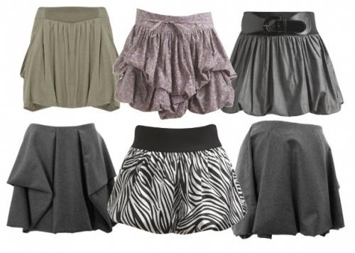 дутые юбки-баллоны