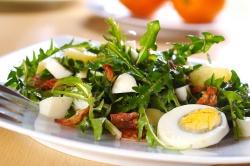 Салат из картофеля со щавелем
