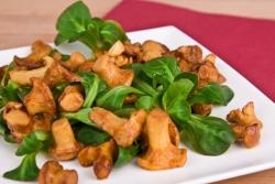 Витаминный салат с вешенками