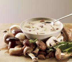 Крем-суп с курицей и белыми грибами