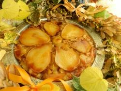 Грушевый пирог-перевертыш с орехами