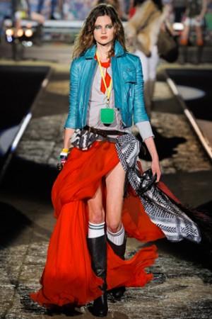 Модная юбка-макси лето 2012 - цвет и расцветки