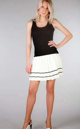 плиссированная юбка мини