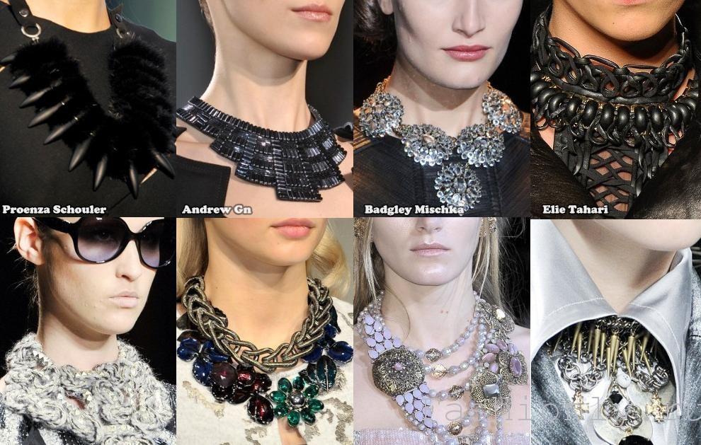 Модные украшения сезона осень 2011 – зима 2012