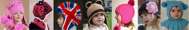 Модные детские шапки зима 2011 – 2012 в стиле «hand made»