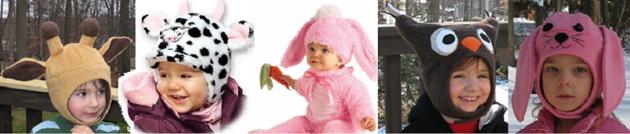 Неординарные детские шапки зима 2011 - 2012