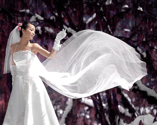 зимний наряд невесты