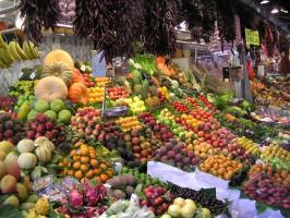 Импортные овощи и фрукты