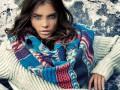Модные женские шарфы зима 2012