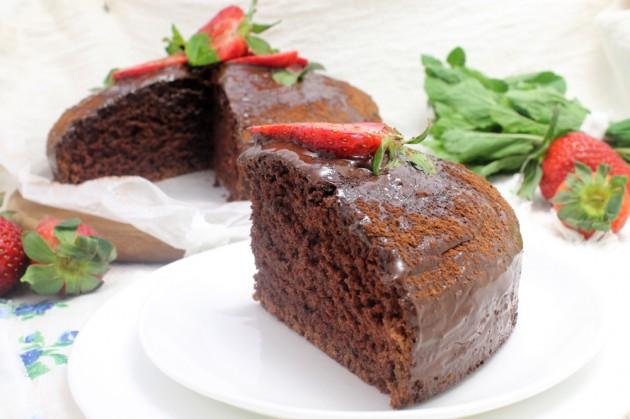 Постный шоколадный пирог