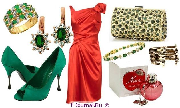 С чем носить или сочетать красное платье.