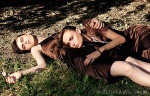 С чем носить или сочетать коричневое платье