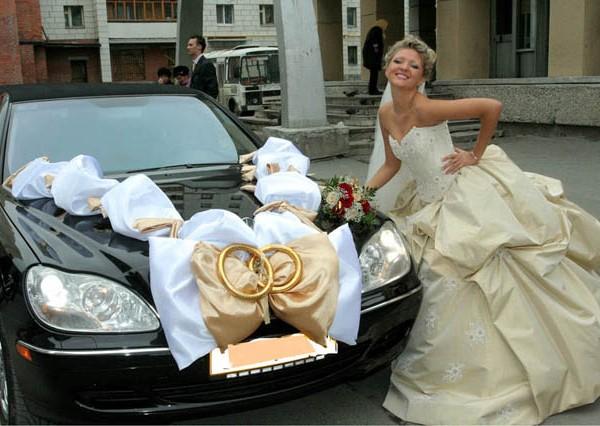 украшение свадебного кортежа