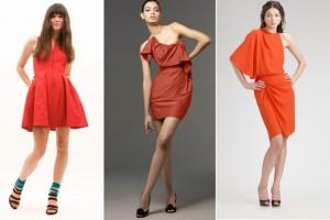 Маленькое красное платье весна 2012