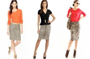 С чем носить леопардовую юбку