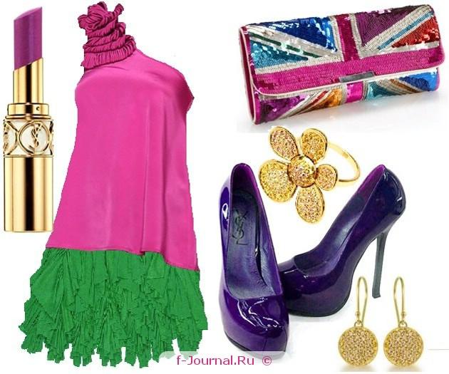 С чем носить зеленую юбку - мини