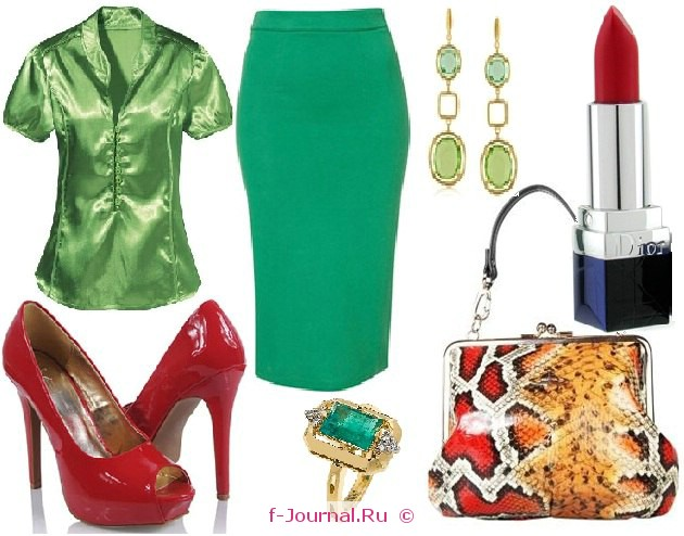С чем носить зеленую юбку – карандаш